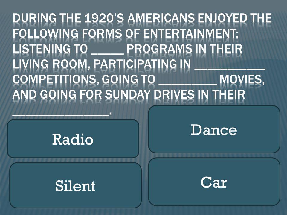 Radio Dance Silent Car