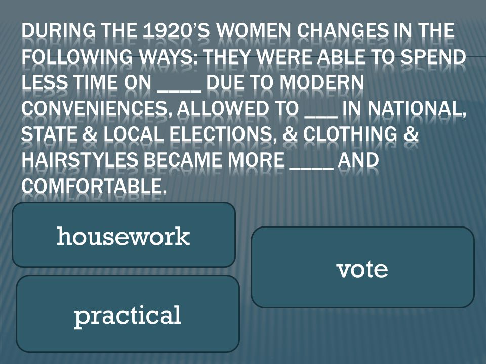 housework vote practical