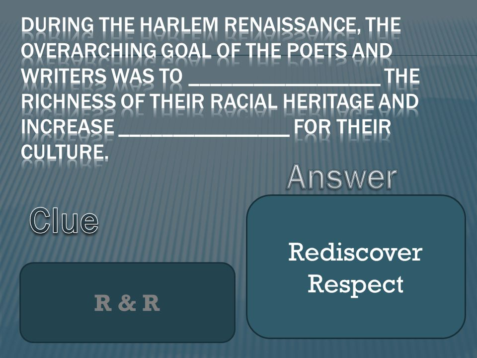R & R Rediscover Respect