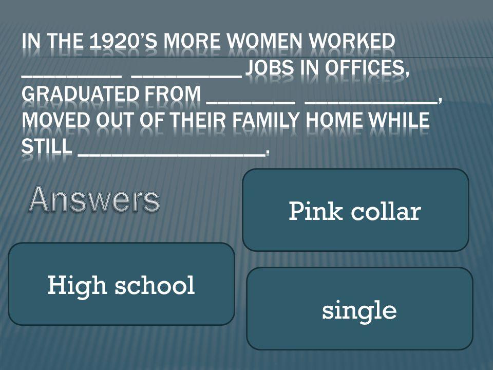 Pink collar High school single