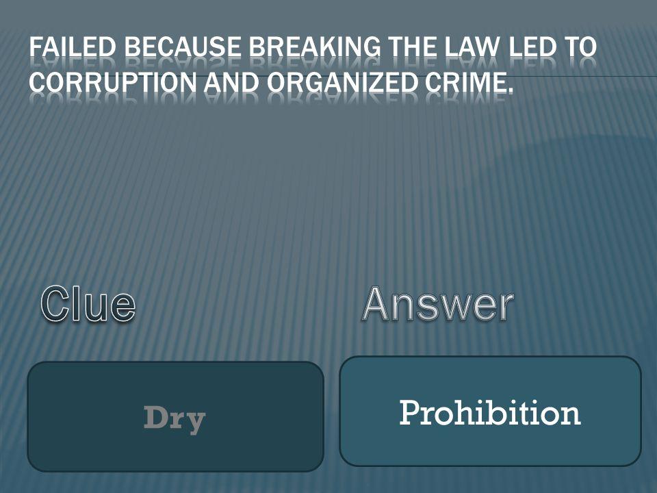 Dry Prohibition