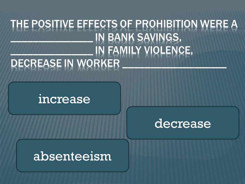 increase decrease absenteeism