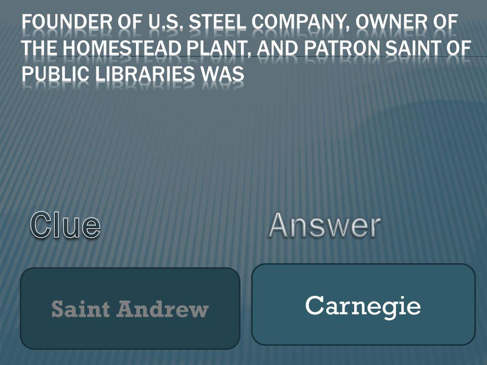 Saint Andrew Carnegie