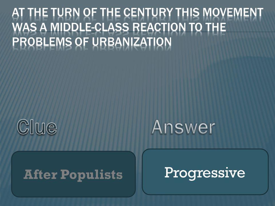 After Populists Progressive