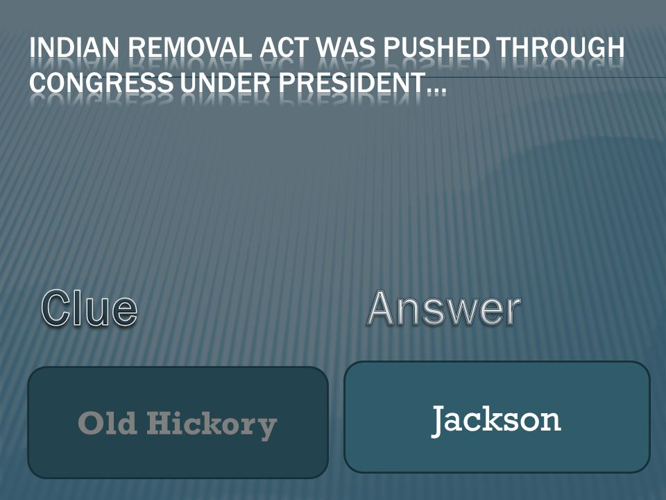 Old Hickory Jackson