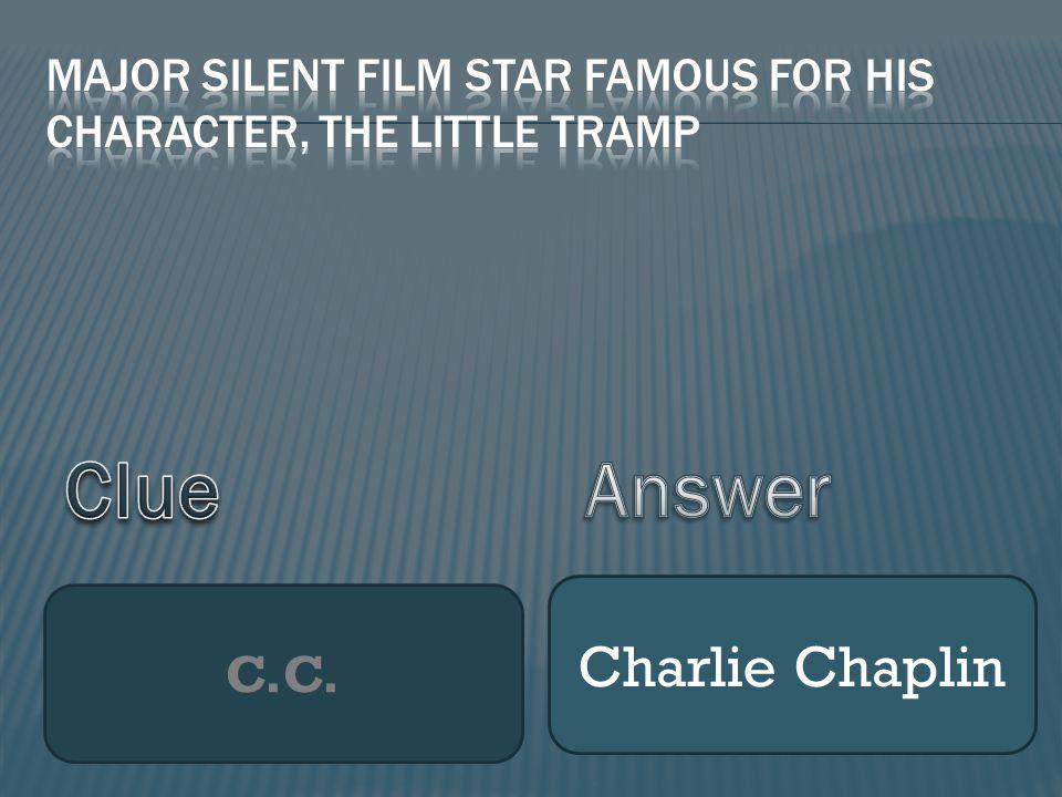 C.C. Charlie Chaplin