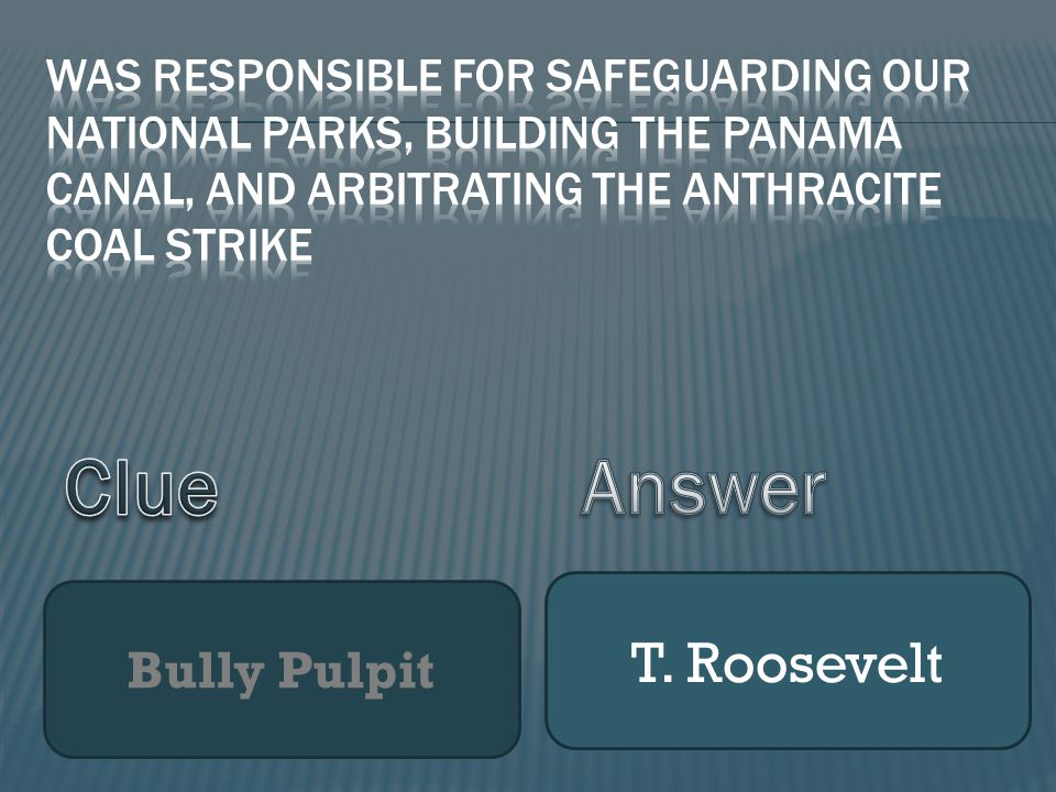 Bully Pulpit T. Roosevelt
