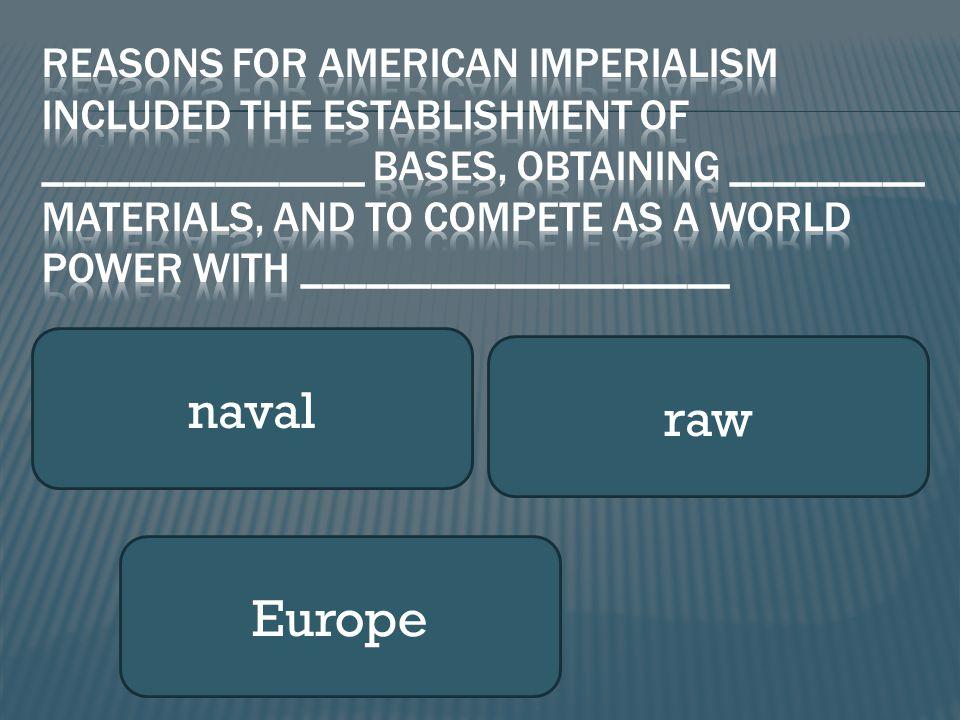 naval raw Europe