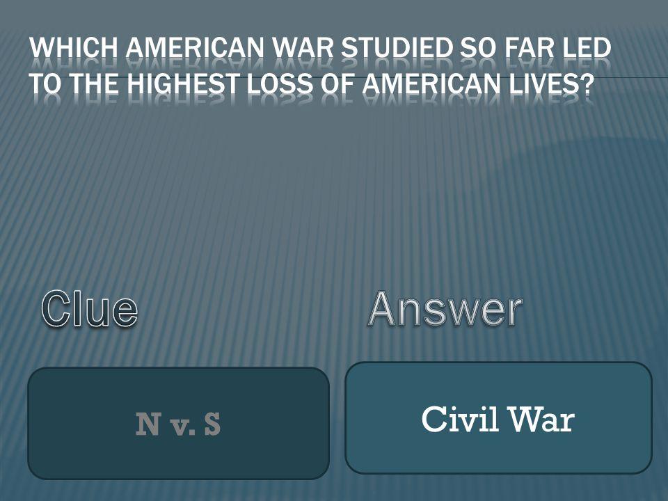 N v. S Civil War