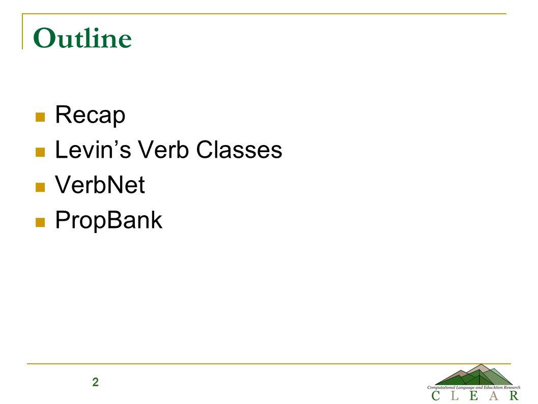 The Unified Verb Index http://verbs.colorado.edu/verb-index/ 13