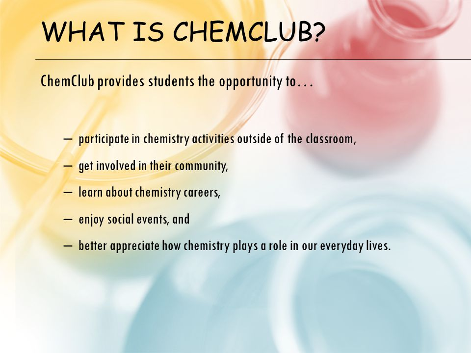 WHAT IS CHEMCLUB.