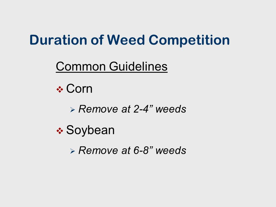 PROGRAM APPROACH TO MANAGING WEEDS IN SOYBEANS Soil - Residual Herbicide Plus Foliar - Applied Herbicide (Include Herbicides with Different Modes of Action)