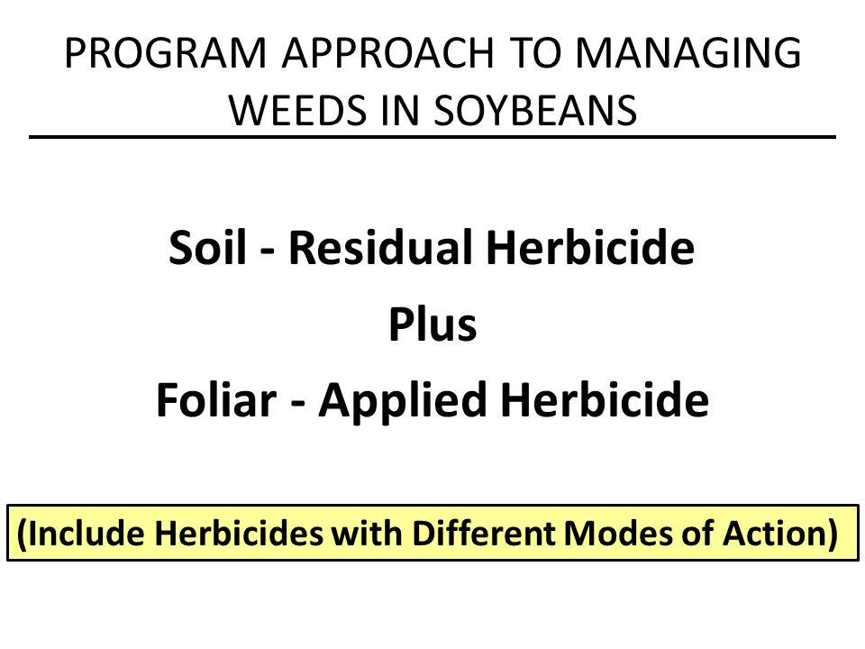 RESPONSE TO RESISTANCE MECHANISM PRE vs POST APPLICATIONS Waterhemp resistance to some herbicides is more noticeable with Post application than Pre application.