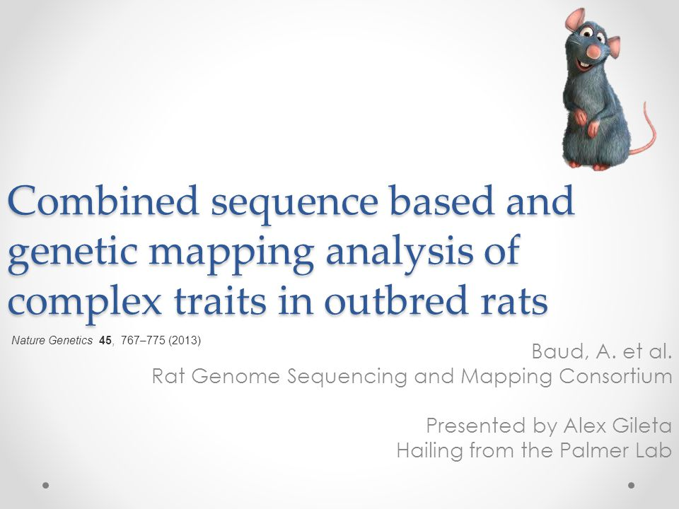 Combined sequence based and genetic mapping analysis of complex traits in outbred rats Baud, A.