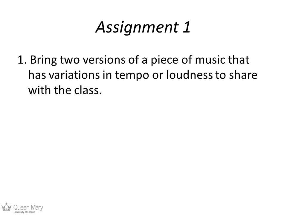 Assignment 1 1.