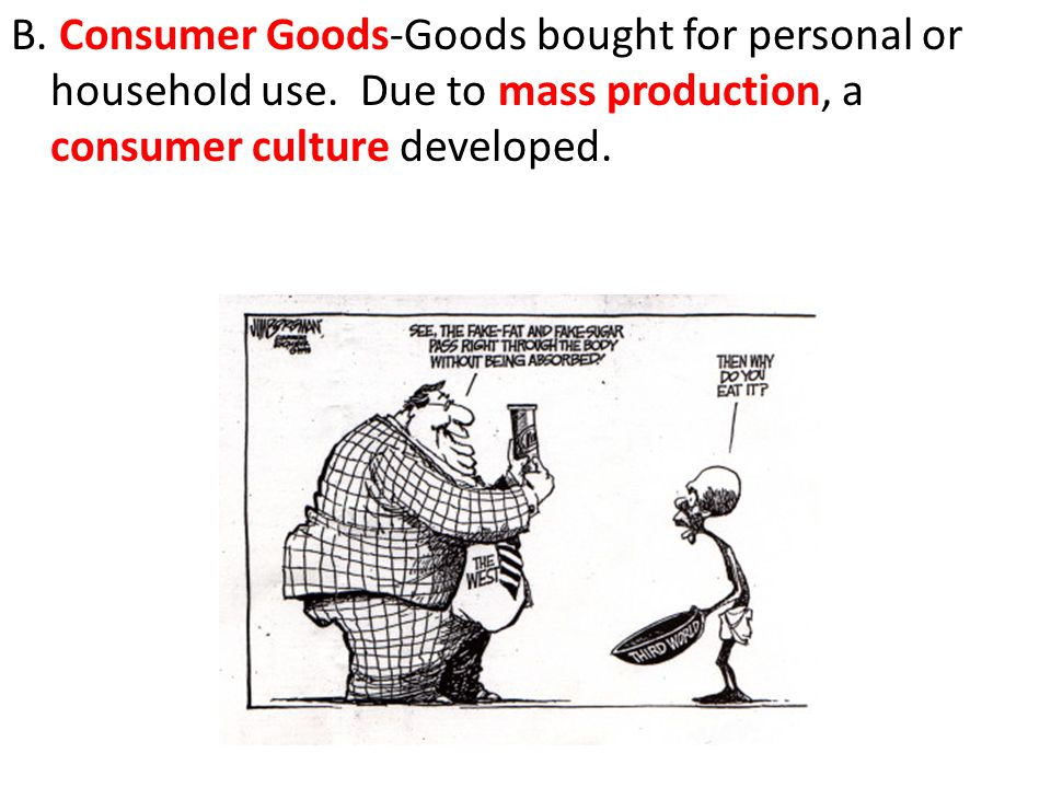 B. Consumer Goods-Goods bought for personal or household use.