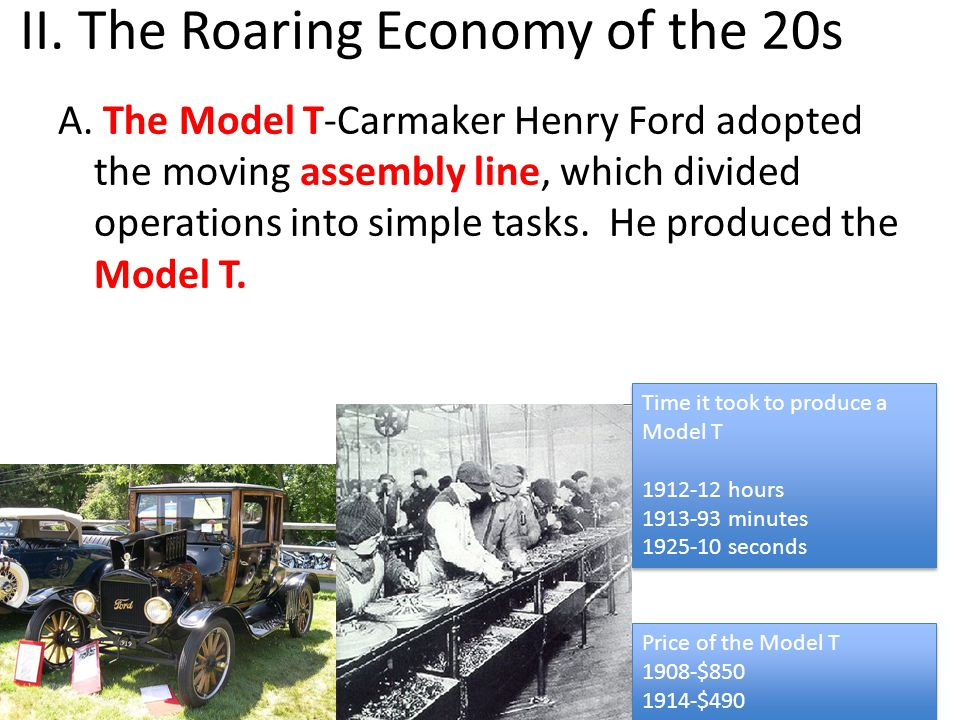 II. The Roaring Economy of the 20s A.