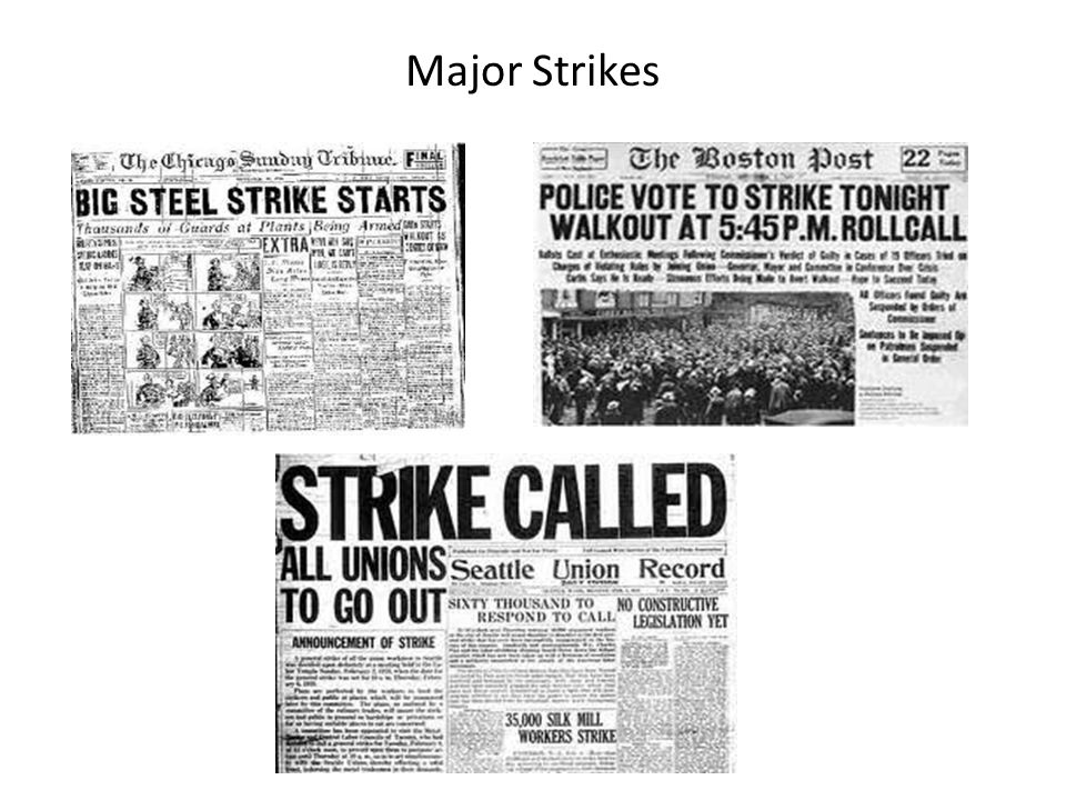 Major Strikes