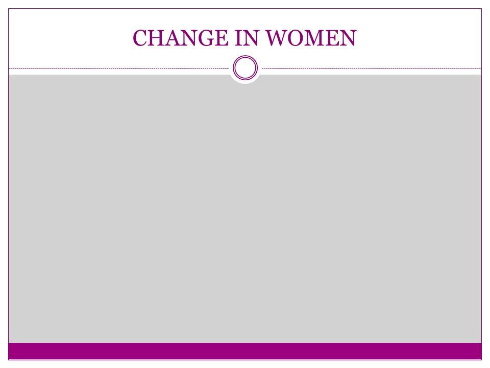 CHANGE IN WOMEN