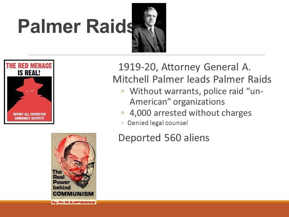Palmer Raids 1919-20, Attorney General A.