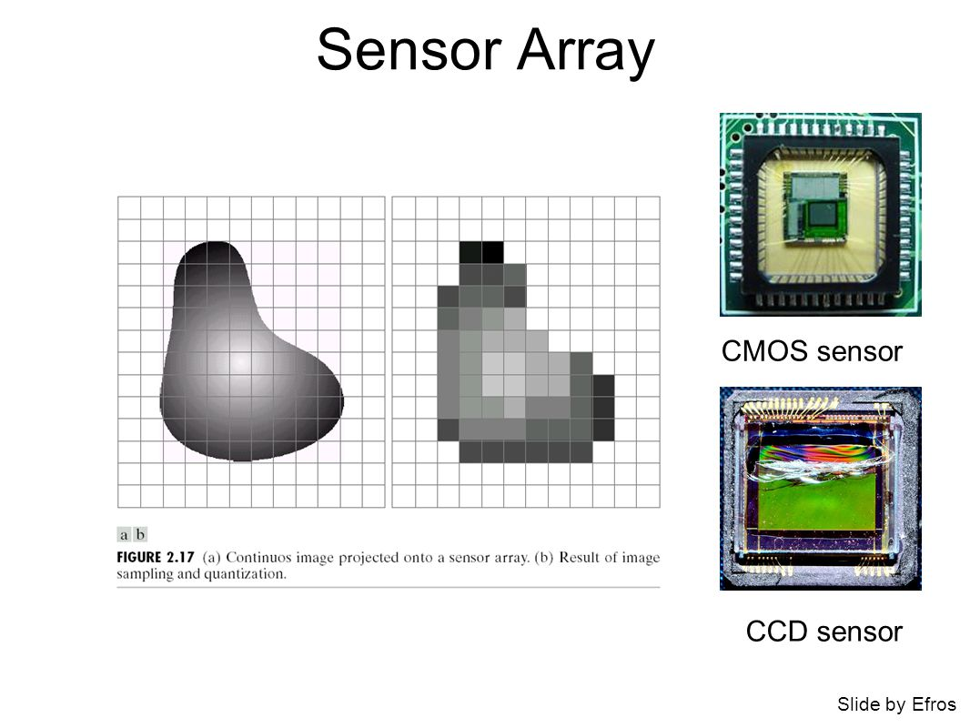 Sensor Array CMOS sensor Slide by Efros CCD sensor
