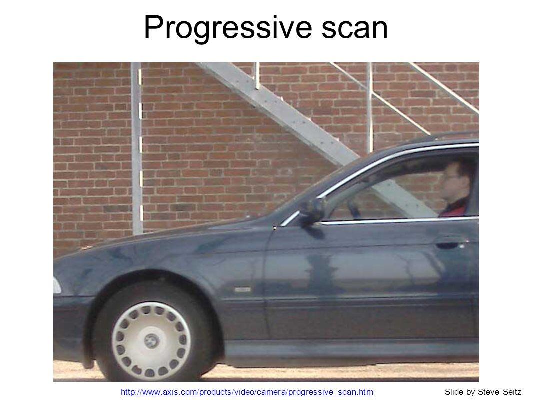 Progressive scan http://www.axis.com/products/video/camera/progressive_scan.htmSlide by Steve Seitz