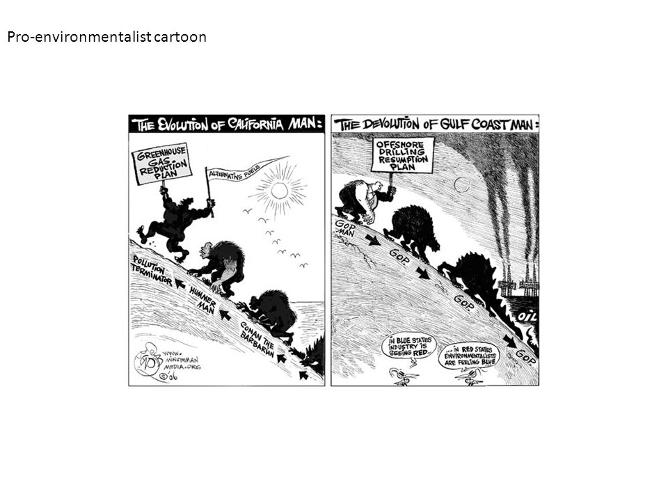 Pro-environmentalist cartoon