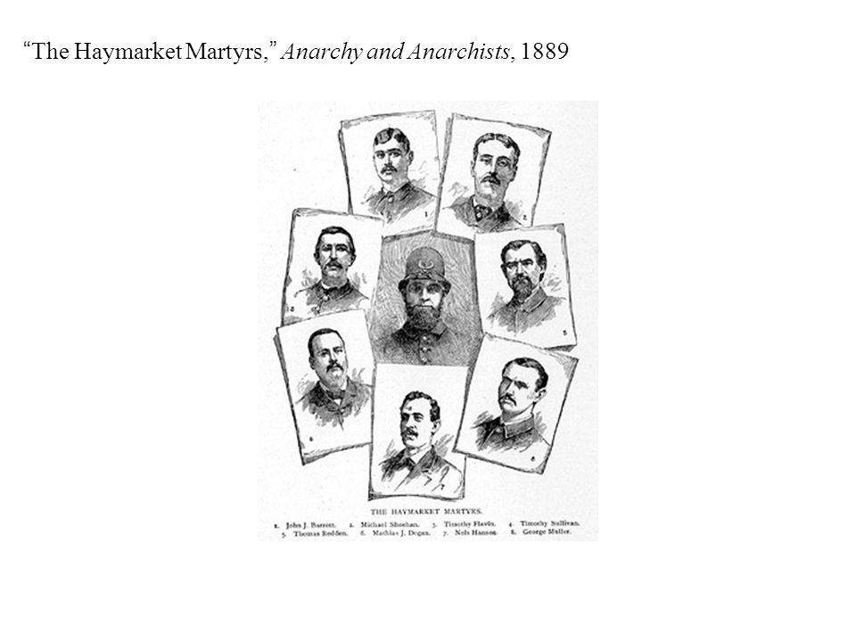 """The Haymarket Martyrs,"" Anarchy and Anarchists, 1889"
