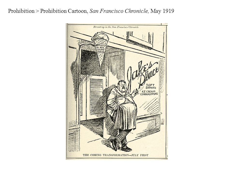 Prohibition > Prohibition Cartoon, San Francisco Chronicle, May 1919