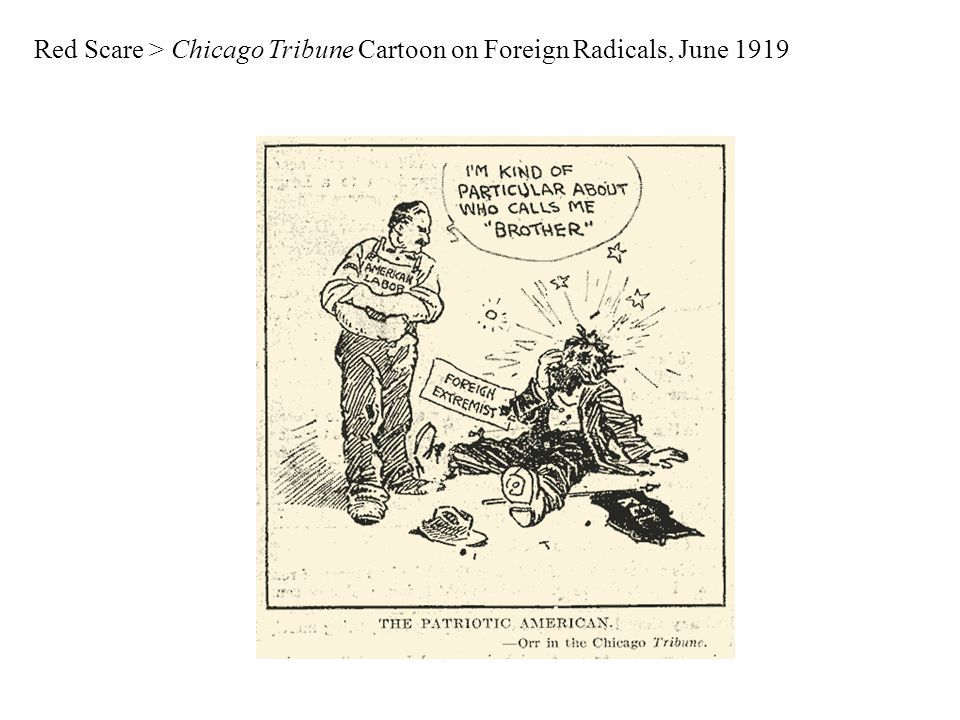 Red Scare > Chicago Tribune Cartoon on Foreign Radicals, June 1919
