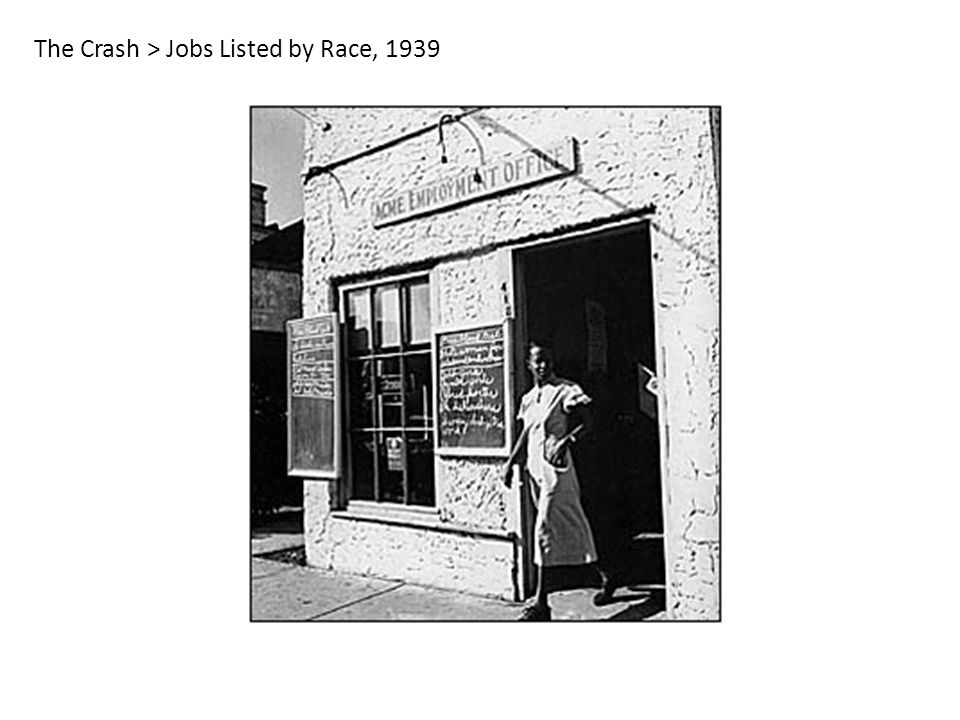 The Crash > Jobs Listed by Race, 1939