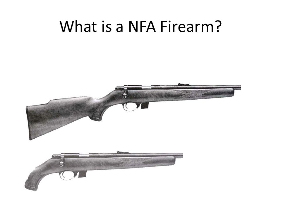 What is a NFA Firearm Short Barreled Rifles ( SBR ) < 16 inches