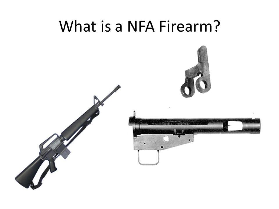 What is a NFA Firearm Machinegun