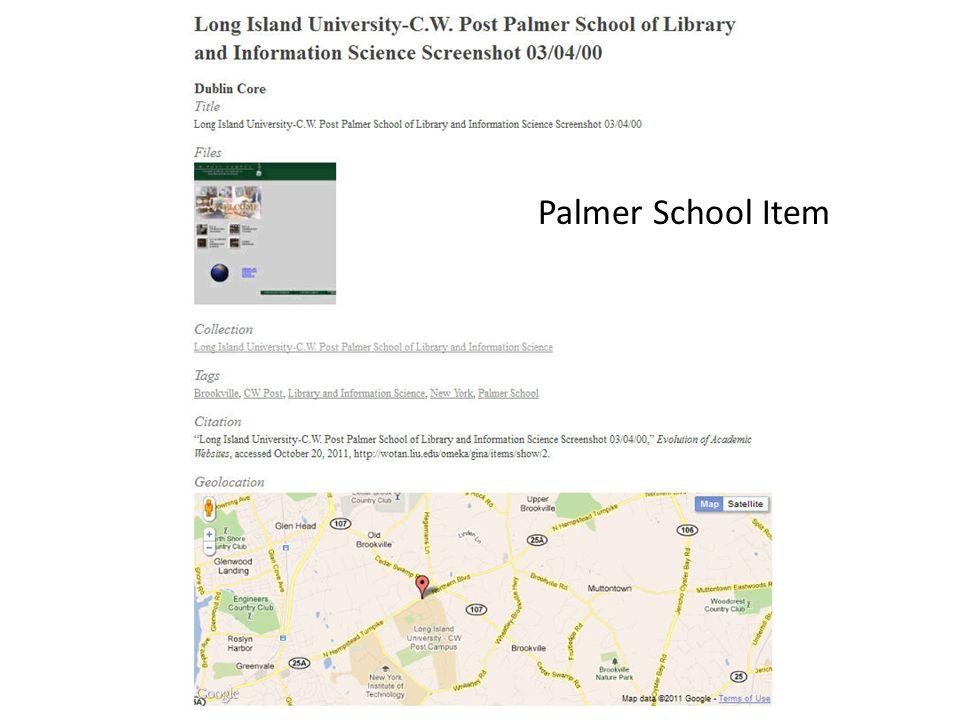 Palmer School Item