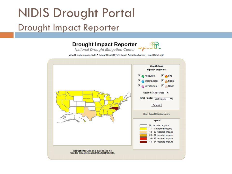 NIDIS Drought Portal Drought Impact Reporter