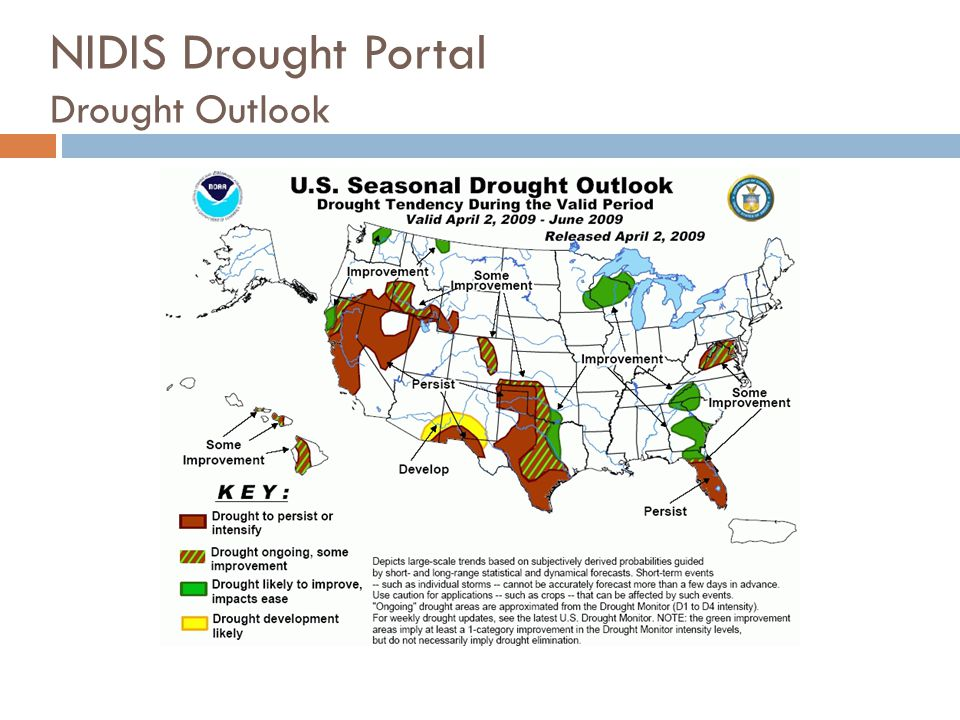 NIDIS Drought Portal Drought Outlook