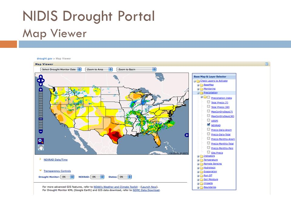 NIDIS Drought Portal Map Viewer
