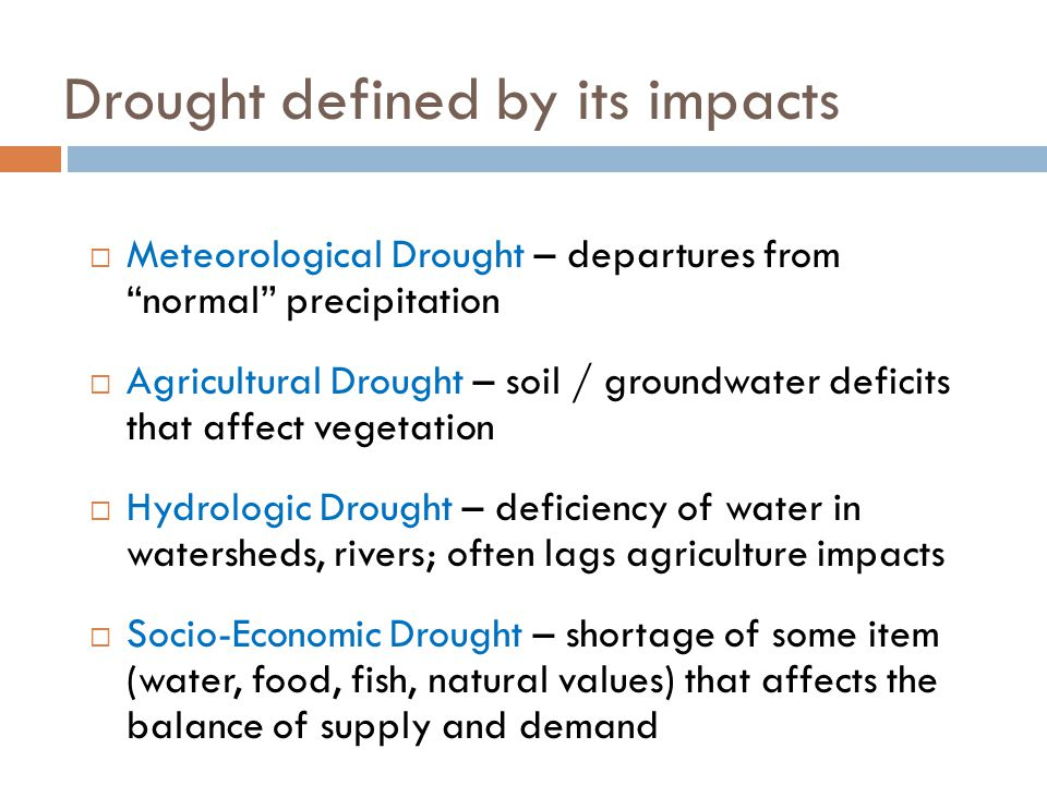 What is drought.