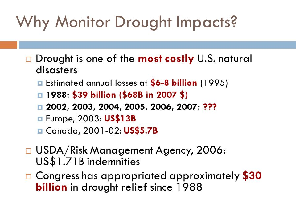Approximate Peak of 2006 Drought