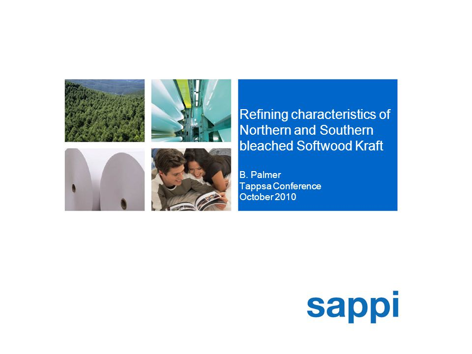 [SA Technology Centre, Sappi Manufacturing] Slide 2 Objectives  Compare wood and fibre characteristics of Northern and Southern bleached Softwood Kraft  Highlight key differentiating features  Determine the individual refining characteristics