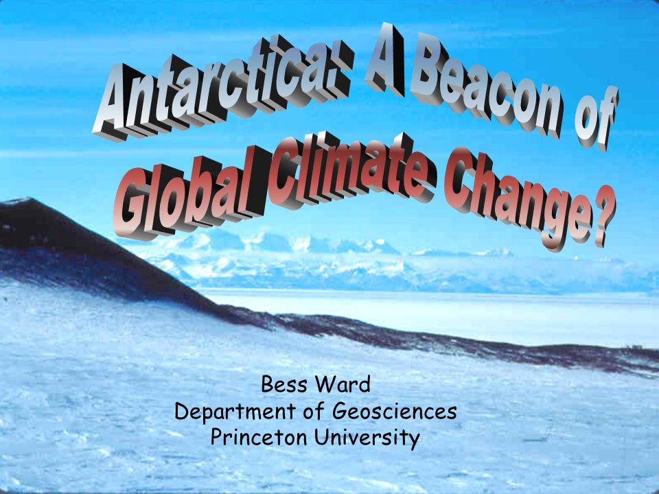 Antarctic Continental Cooling u Climate indicators u Reduced T, decreased wind, increased sunshine u Reduced river flow, thicker ice u Ecosystem effects u Less primary production u Fewer nematodes