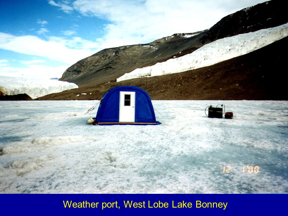 Weather port, West Lobe Lake Bonney