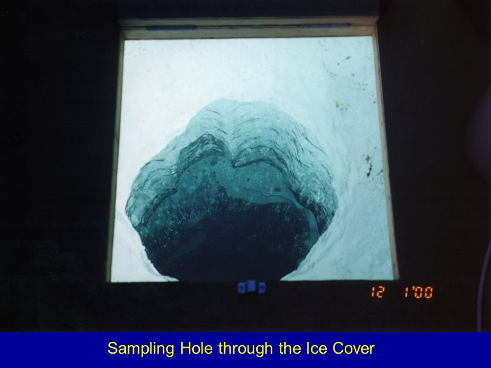 Sampling Hole through the Ice Cover