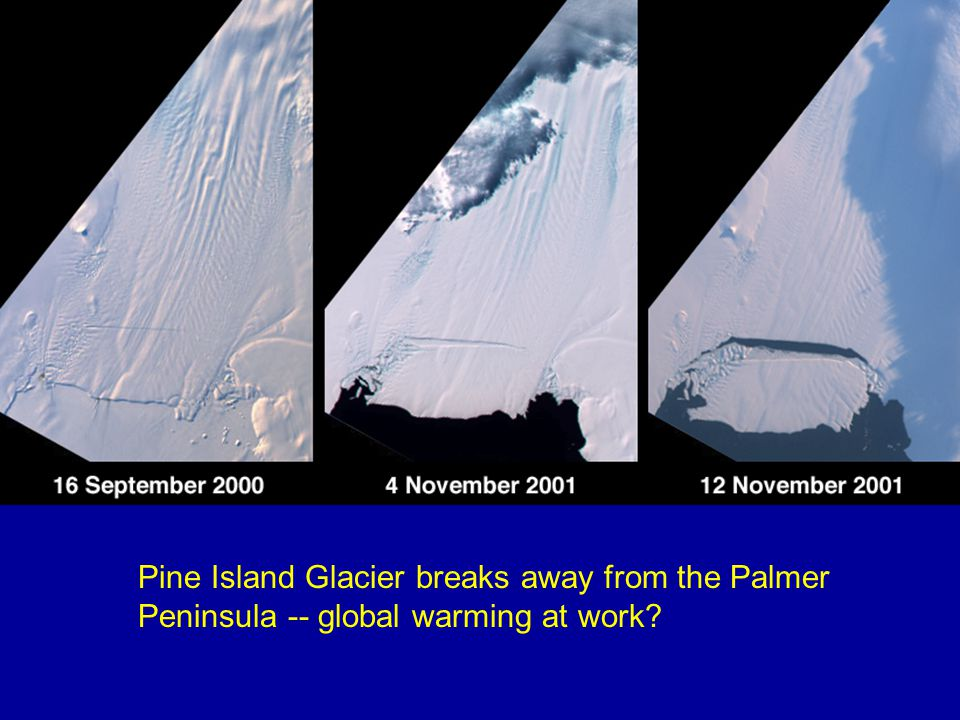 Cooling Trend in Antarctica -- warmer in polar seas Doran et al., 2002