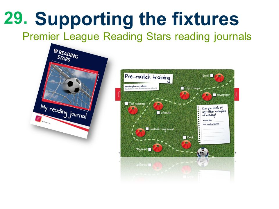 29. Supporting the fixtures Premier League Reading Stars reading journals