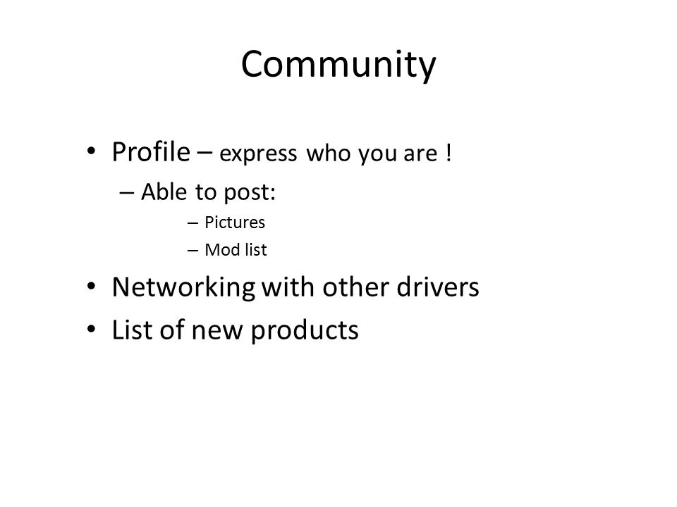 Community Profile – express who you are .
