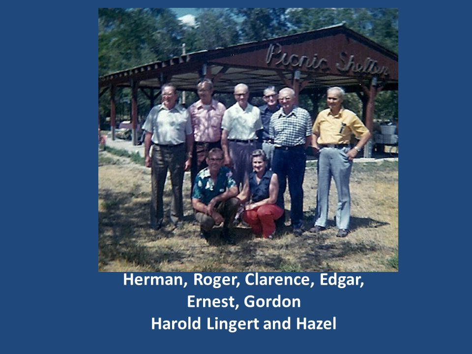 Herman, Roger, Clarence, Edgar, Ernest, Gordon Harold Lingert and Hazel
