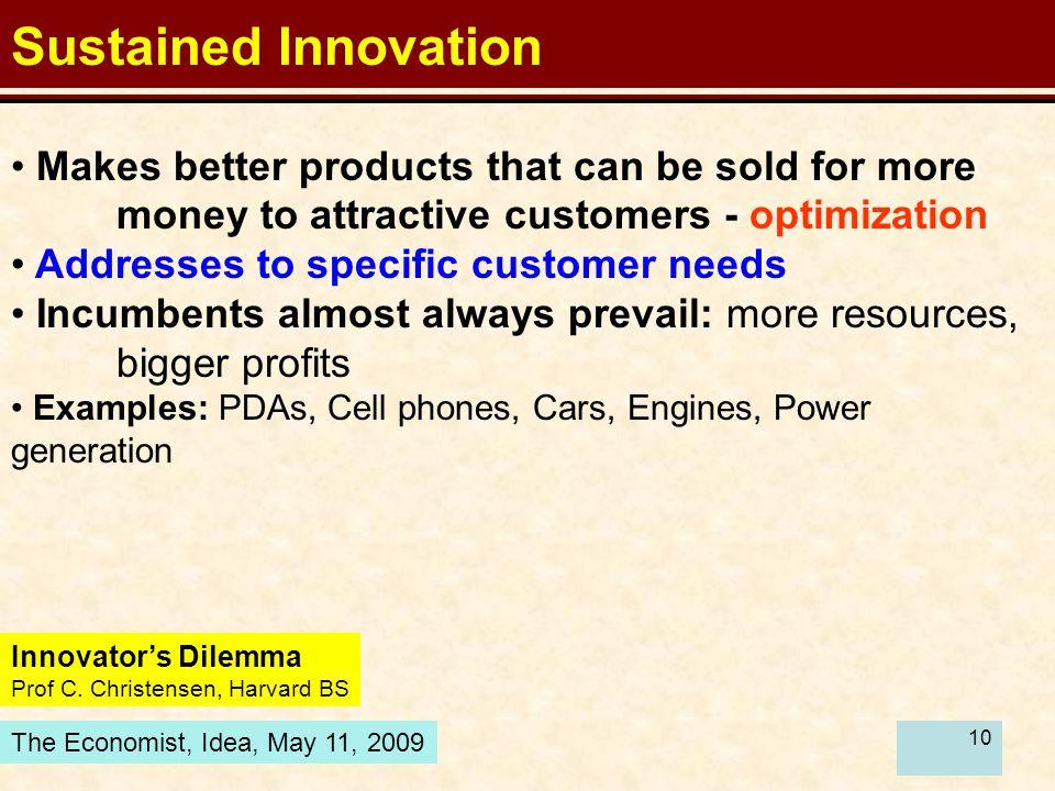10 Innovator's Dilemma Prof C.