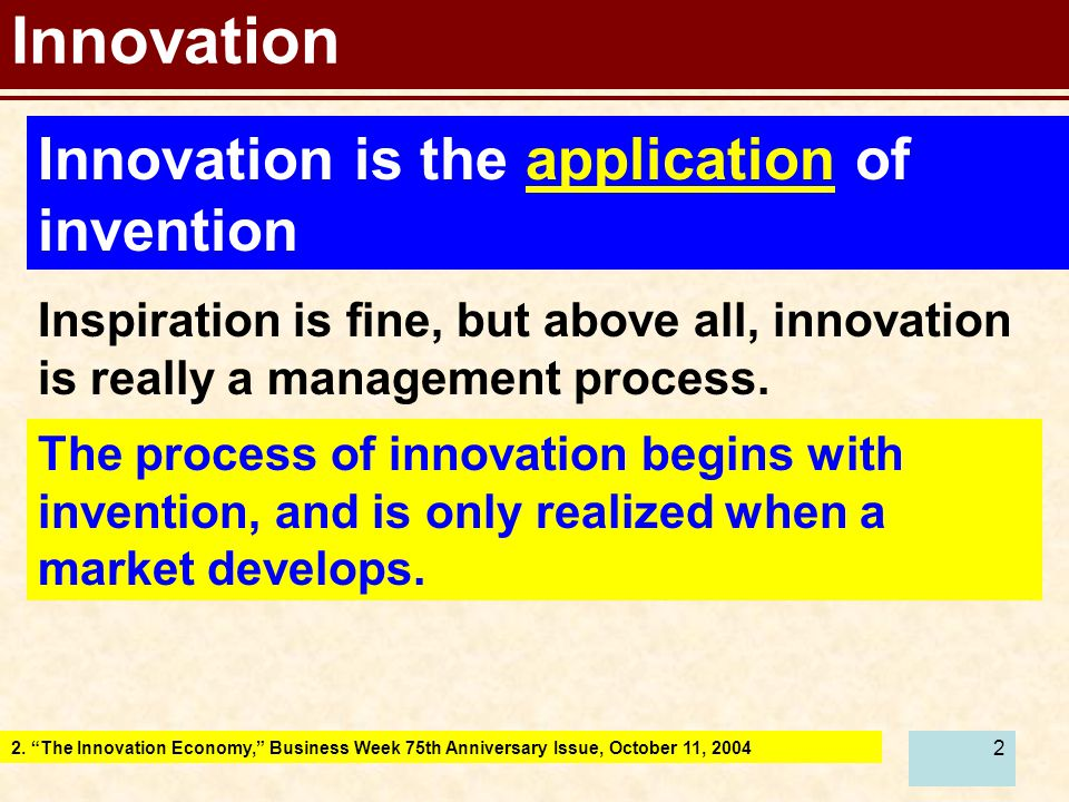 23 Note: Innovation also applies to you as an engineer (Re)invent your self and be able to sell your own product (engineering competence).