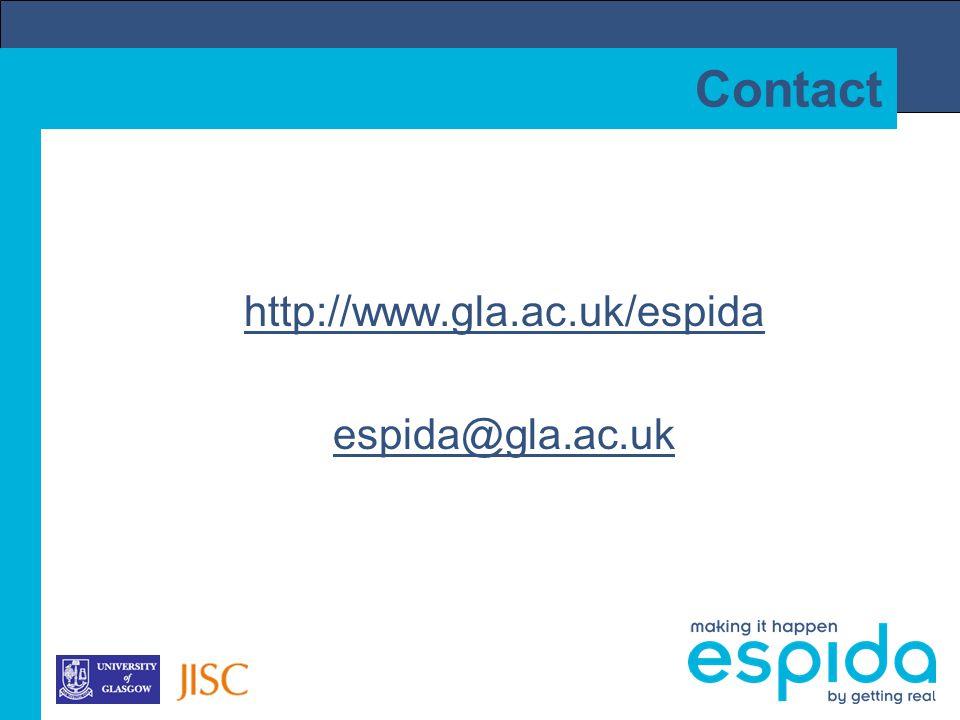 Contact http://www.gla.ac.uk/espida espida@gla.ac.uk